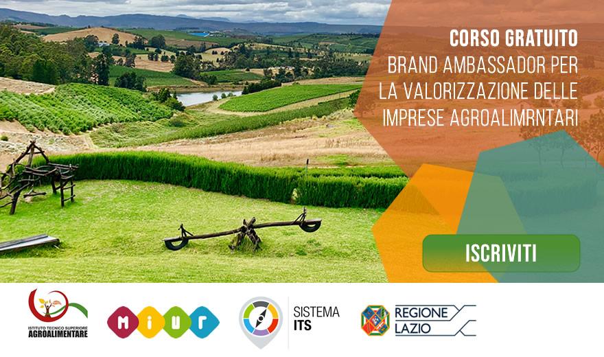 Corso ITS Valorizzazione delle Imprese e dei Prodotti Agricoli e Agroalimentari del Made in Italy – Brand Ambassador