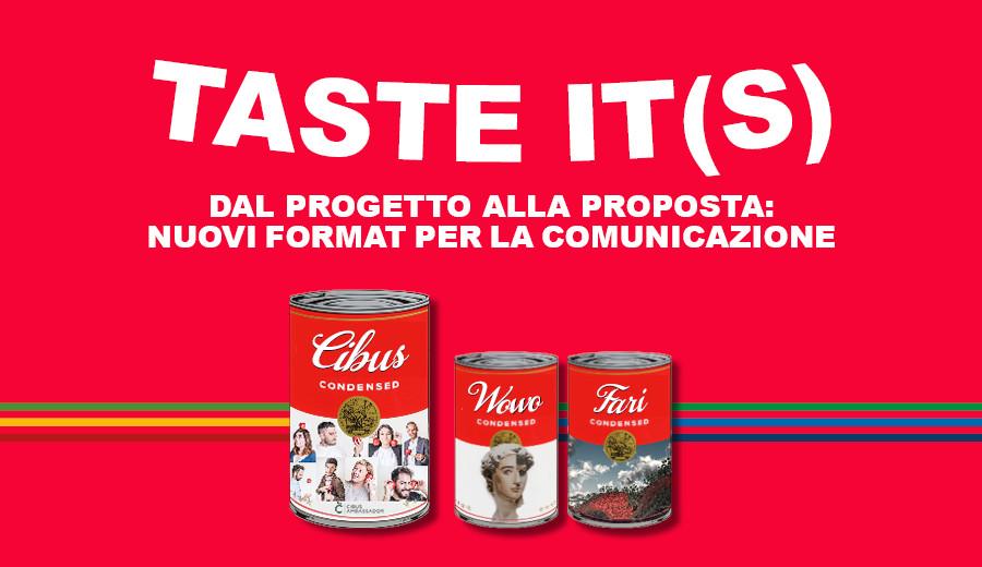 TASTE IT(S): presentazione del nuovo blog Cibus Ambassador